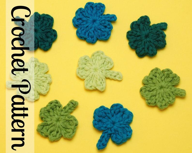 Shamrock Appliqué Crochet Pattern  Shamrock Crochet Pattern  image 0