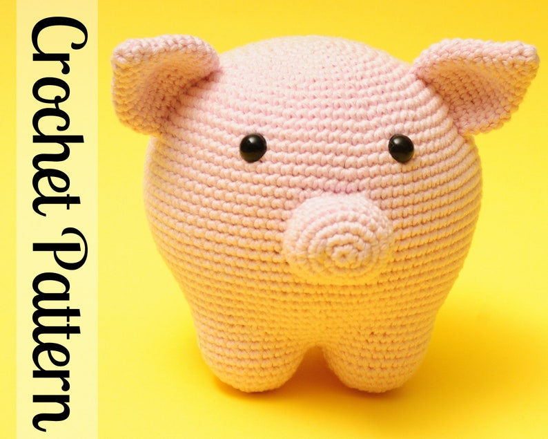 Piper the Pig Crochet Pattern  Pig Crochet Pattern  Pig image 0
