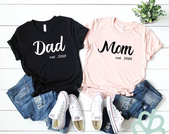 b60c016f dad and mom shirt | new parent shirt | pregnancy announcement shirts | baby  shower gift | gift for parents | Mothers day | fathers day