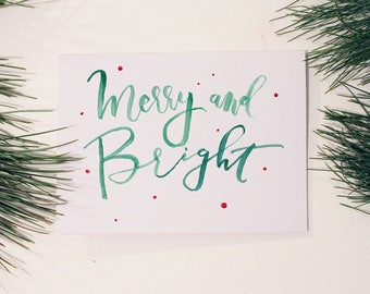Merry and Bright / Color / Christmas Card