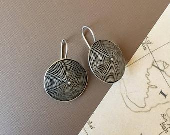 Chakra Sterling Silver Earrings