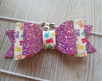 Gummy Bear Hairbow   Headband   Glitter