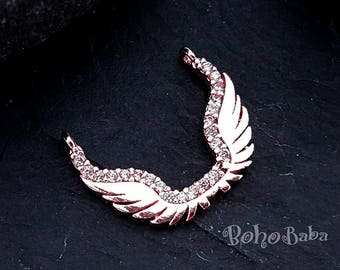 5Pcs  2021 Fashion Rings Angel Wings  Heart Pave CZ Finger Rings Daily Collocation Jewelleru for Women