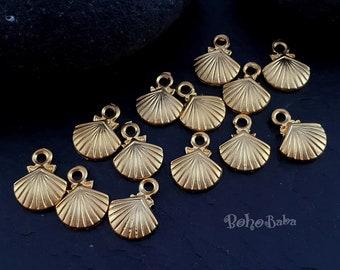 Wholesale Seashell Charms Silver Tone Free Shipping and Quantity Discounts! 49 Bulk Seashell Charms