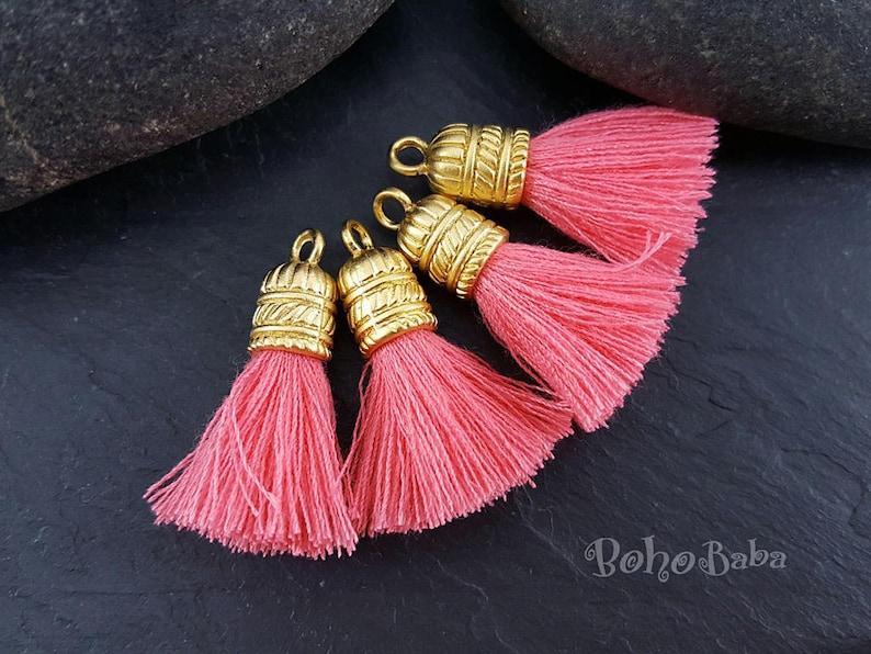 Tassel Jewelry Handmade Silk Thread Tassel Tassel Charms Tassel Earring Findings Tassel Pendant Burnt Orange Gold Tassel Necklace 1pc