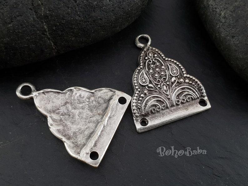 Boho Jewelry Tribal Findings Multi loop Earrings Silver Earrings Tribal Connectors Multi Strand Connectors Chandelier Earrings 2 Pc