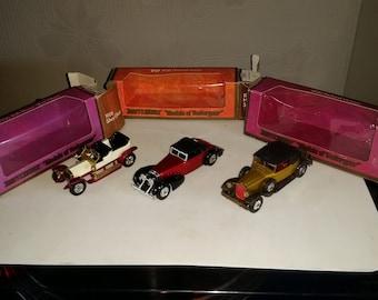 Matchbox vintage cars Y-10 1969, Y15 1969, Y17 1973