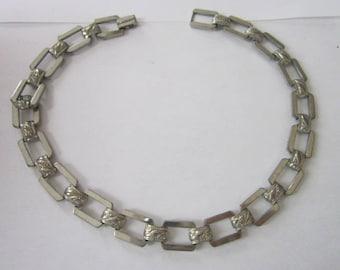 Retro Modern Chrome Heavy Large Link Necklace