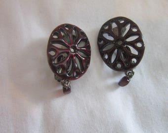 Vintage Designer Babylon Paris Clip On Earrings