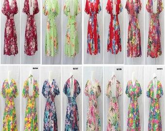 Dress Bolong Rayon, Dress Floral Rayon, VIntage Floral