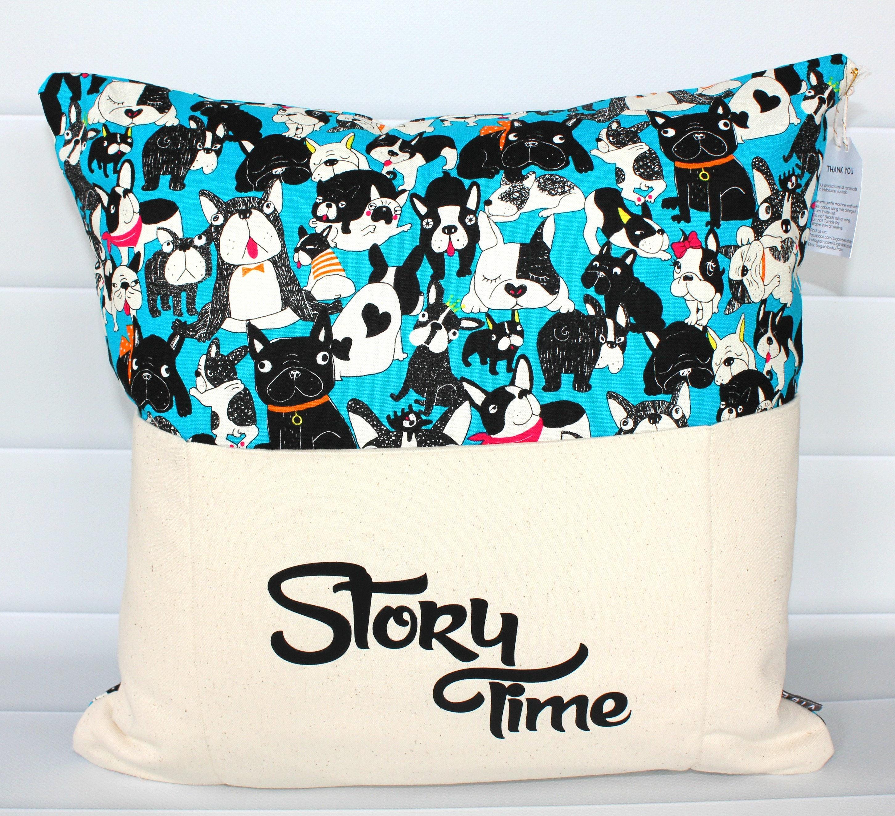 Space Dog Book Pillow-Reading Pillow