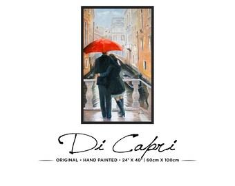 Red Umbrella | Original Oil Painting On Canvas | Modern Art | 09