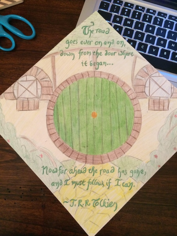 Lord Of The Rings Quote Graduation Cap Etsy