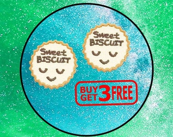 2pcs Mini Sweet Biscuit Iron On Patch funny patches Mini Patch Small Patch Embroidered