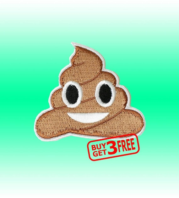 Rainbow Poop Iron On Patch Funny Emoji Applique Crafts Badge Patches HD140