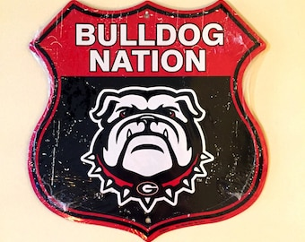 Ultimate UGA Fan Decor, Bulldog Nation, UGA Metal Sign, Bulldogs Plaque,  Sports Sign For Door, University Of Georgia Sign, College Sports,