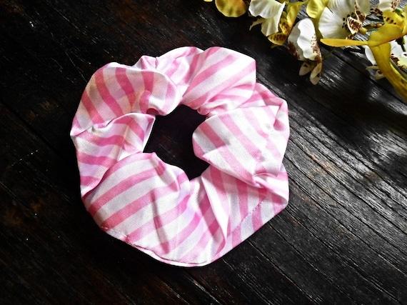 NUOVO 10cm Fascia Per Capelli scrunchie elastico nero con tessuto Rosa Floreale Fiore Design