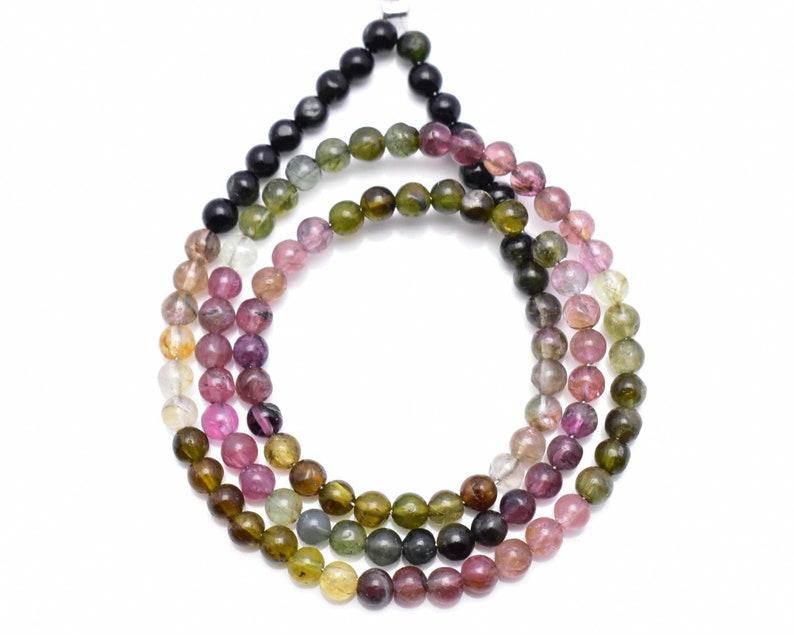 Natural Multi Tourmaline Round Ball Tourmaline Smooth Round Ball Shape Multi Tourmaline Rondelle Beads 3 MM 13 Inch Strand RGP265-14