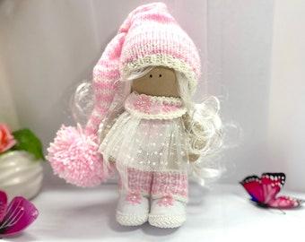 Nursery Rag Doll Handmade, Beauty Gift Doll, Textile doll, Interior Art Doll, Nursery Decor Doll, Fabric Rag Doll, Mom gift, Daughter Gift
