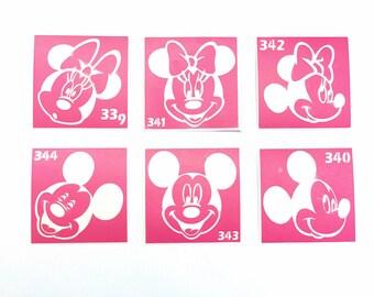 DIY Henna tattoo kit Stencil for art Tattoo stencil Mickey and Minnie Mouse Glitter tattoo Henna stencil Mickey Mouse stencil Mickey tattoo