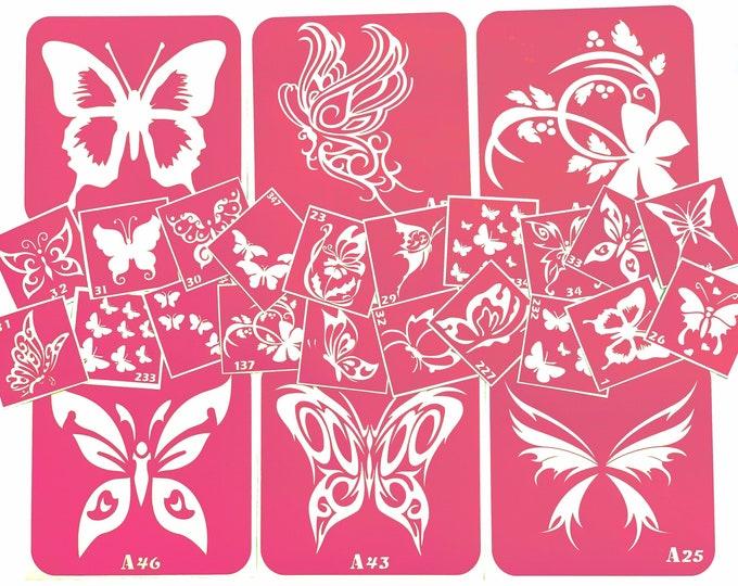 Butterfly tattoo stencil