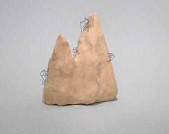 Wood sculpture MOUNTAINS basswood