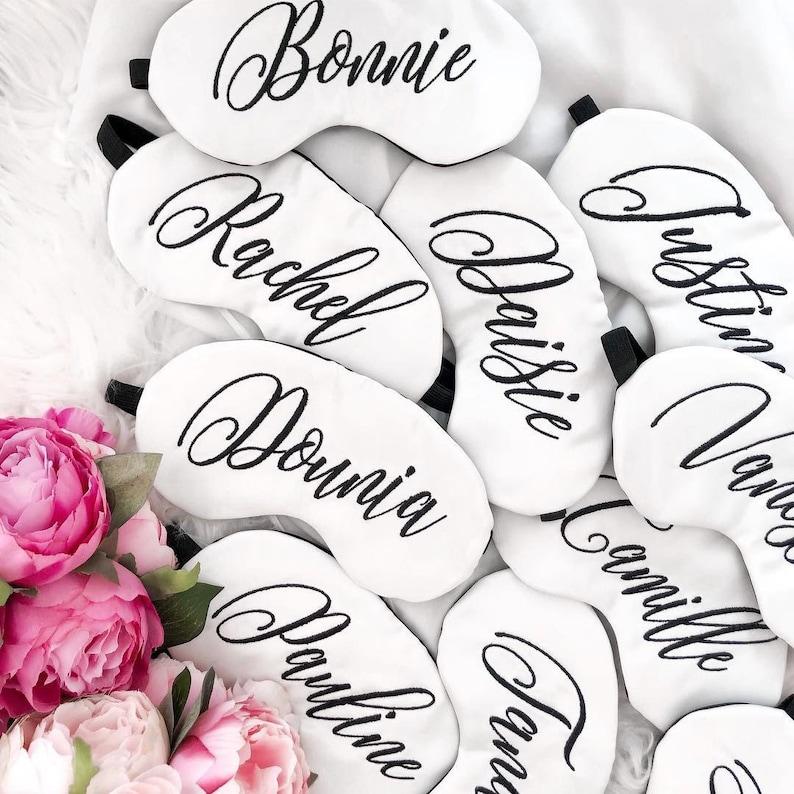 Name Sleep Mask Personalized Eye Mask Bridesmaid Gift Satin Mask Wedding Favor Bridal Gift Custom Bridesmaid Gifts Bachelorette Party Favor