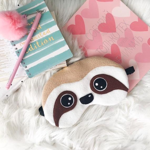 Sommeil Masque Yeux Panda ou PARESSEUX design pour femmes enfants hommes avec sangle élastique