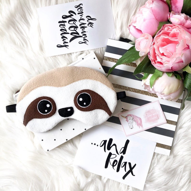 Sloth sleep mask Sloth gifts Eye Mask Sloth lover gift Cute image 0