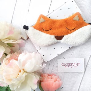 Fox sleep mask Holiday gift Funny sleep mask Sleep mask for women Eye Mask Sleeping mask Fox Sleep mask Gift fot her
