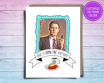 Twin Peaks Birthday Card   Damn Fine Birthday Card   Agent Cooper Birthday Card   Twin Peaks Card   Agent Cooper Card