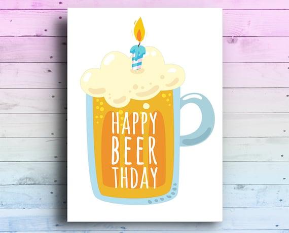 Happy Birthday Beer Card Lover Hoppy