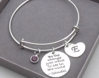 Be the Change Charm Polished Stainless Steel BFS039