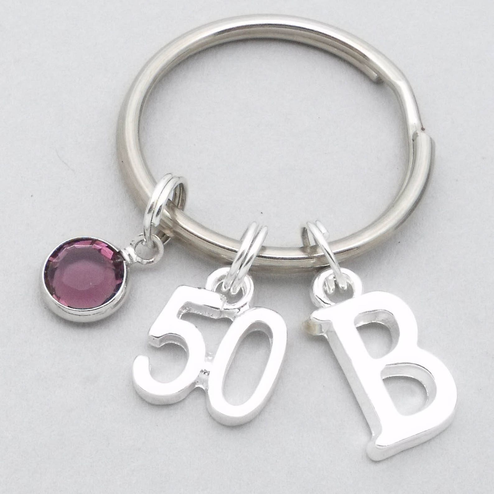 50th birthday keyring