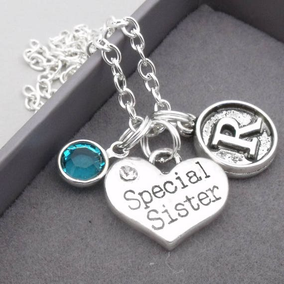 Personalised sister necklace