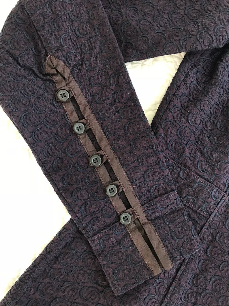 ac7cb2e37c Vintage DRIES VAN NOTEN detailed embroidery purple shirt | Etsy
