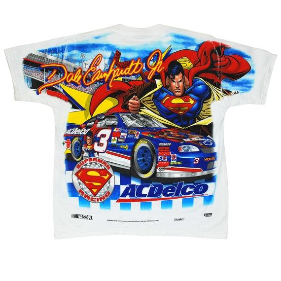 Superman 1998 t-shirt medium vintage deadstock Dale Earnhardt Jr