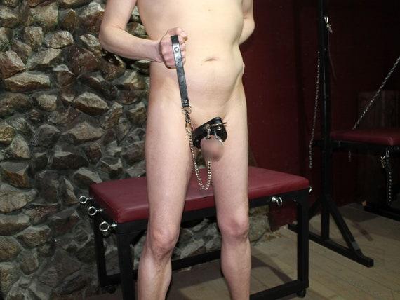 Genital bondage chair cross