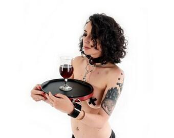 Mature | The Waitress Bondage | submissive waitress uniform | bondage and humiliation devices by Percontator