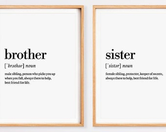 Brother sister quote | Etsy