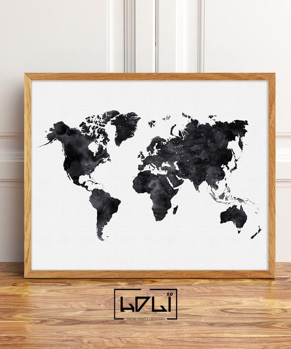 A0 A1 A2 A3 A4 Highly Detailed Vintage World Map Large Poster Art Print