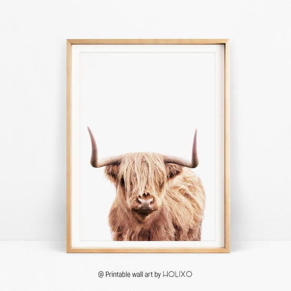Modern Farm Animal Cow Cattle Painting Kitchen Room Decor Home Decoration Decorative Artwork for Home Decor 24x36 Inch SEVEN WALL ARTS
