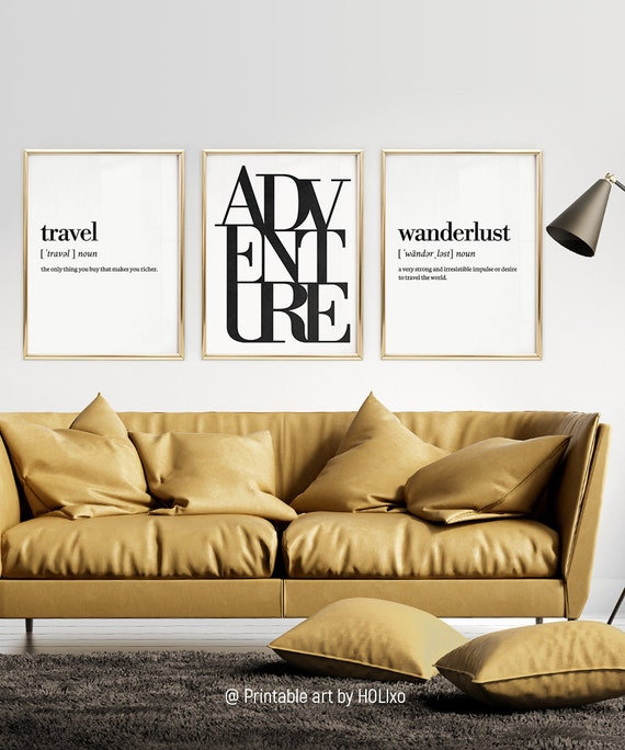 Minimalist Poster Quote Print Modern Art Wall Art Prints Wall Decor Travel Print 8x10inches Shimmer Craft Art Paper Unframed Travel Definition Print Minimalist Print