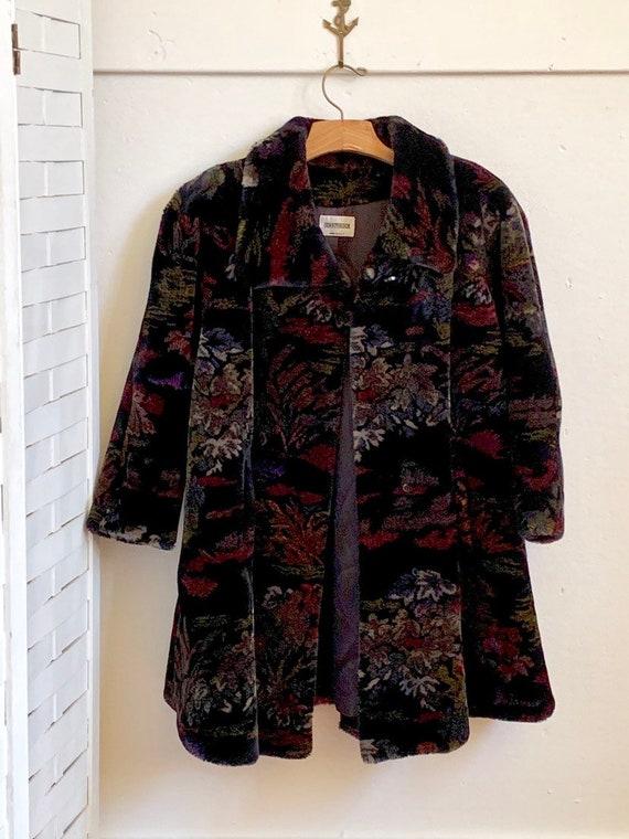 Vintage 1980's Donnybrook faux fur coat, Vintage D
