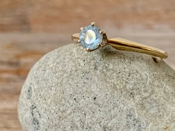 Vintage 14K gold aquamarine ring, 14k gold aquamar