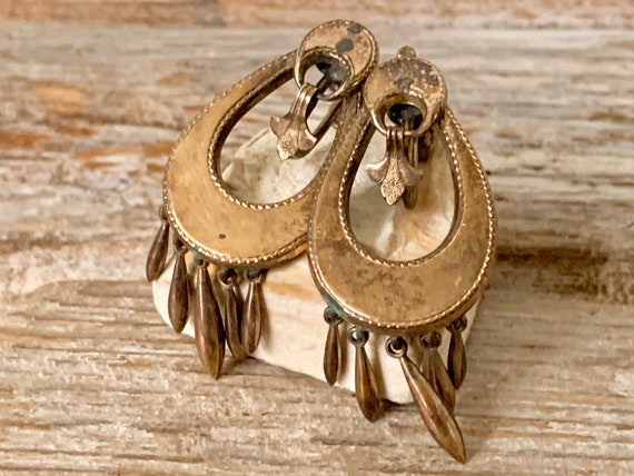 Vintage Victorian gold filled earrings, Victorian… - image 6