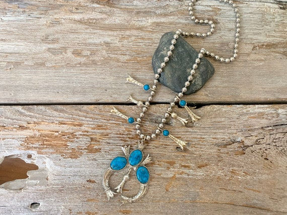 Vintage squash blossom necklace, squash blossom ne