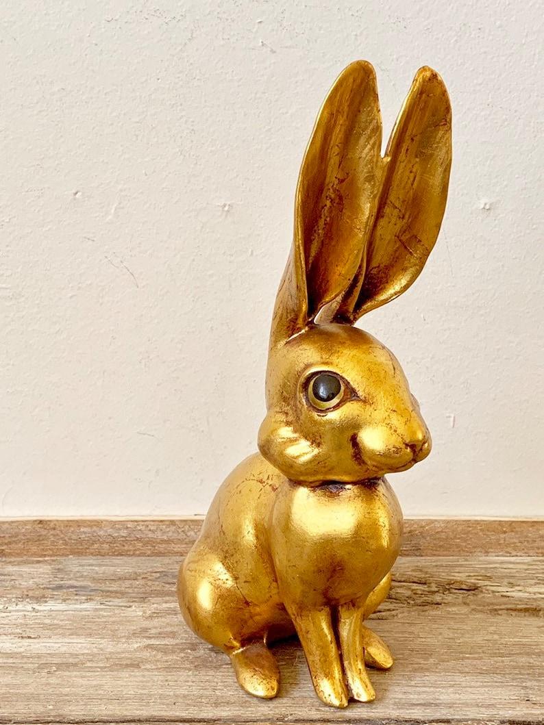 Freeman McFarlin ceramic Signed Freemam McFarlin gold long eared rabbit Vintage Freeman McFarlin gold rabbit Freeman McFarlin Pottery