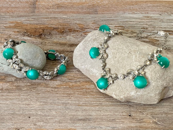 Vintage Art Deco jewelry set, Art Deco jewelry se… - image 1