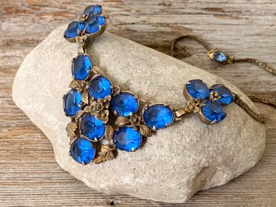 Vintage Art Deco bib necklace, vintage Art Deco ne